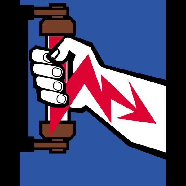 Electric shock warning symbol