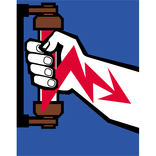 Electric shock warning symbol