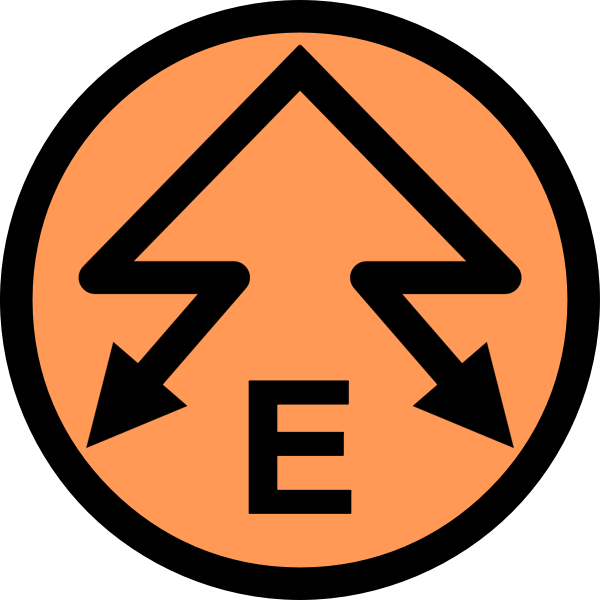 Electric power emblem vector image