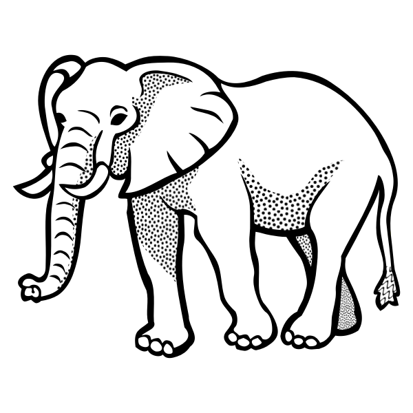 Vector illustration of spotty elephant