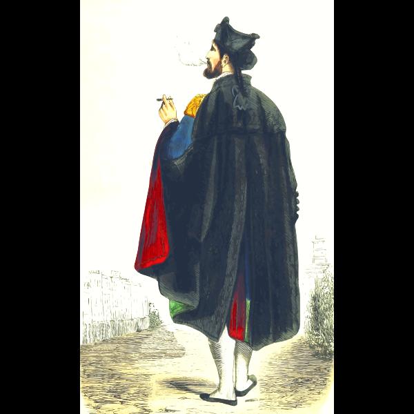 Elegant Man in Medieval Costume