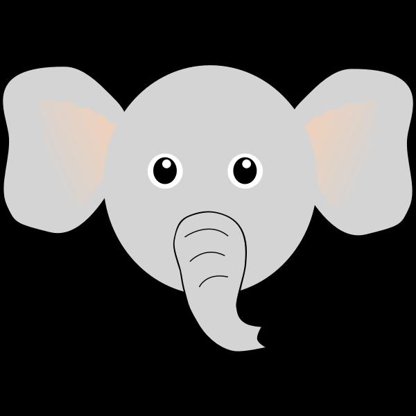 Vector illustration of funny elephant's head