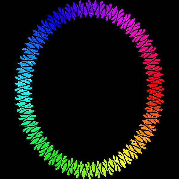 Elliptical Frame Rainbow Color