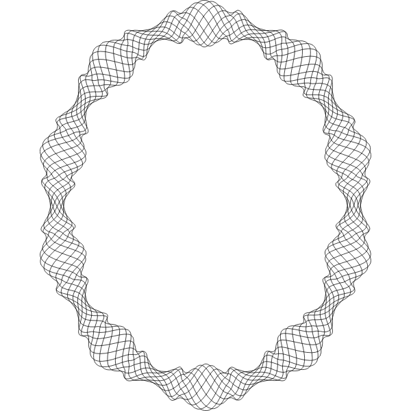 Elliptical Decorative Frame Clip Art