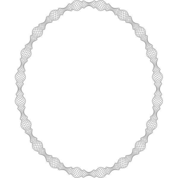 Elliptical Decorative Frame