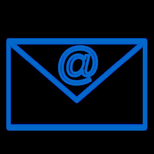 Blue e-mail sign