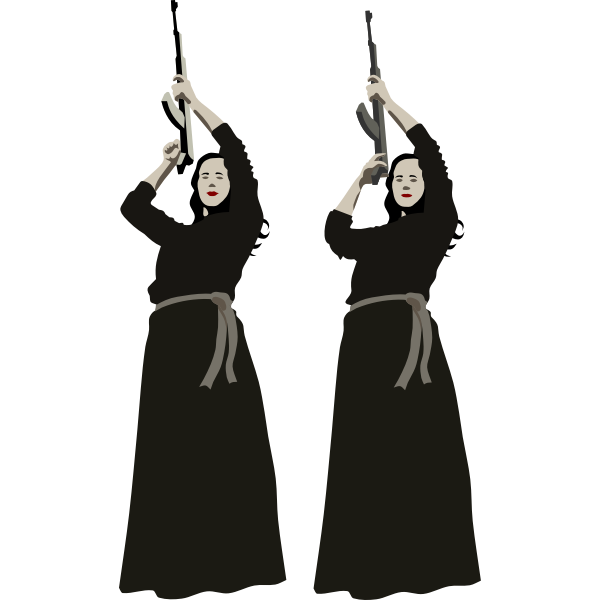 Women with rifle