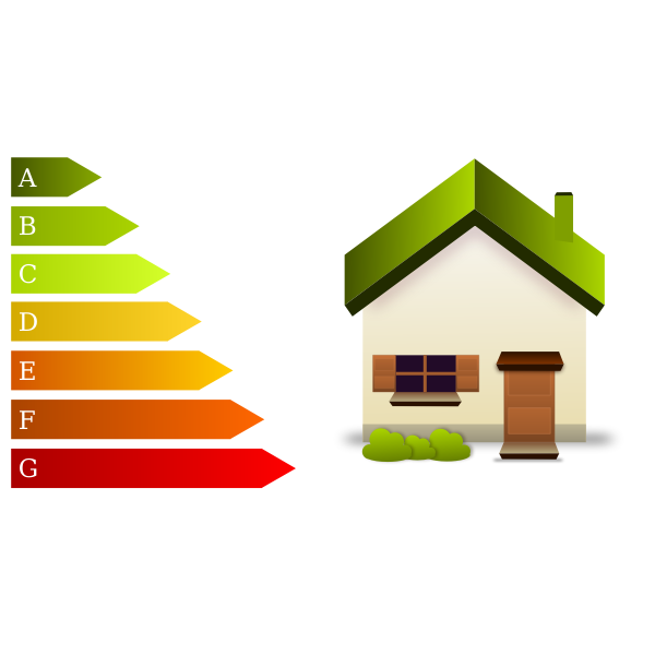 Energy efficiency home sign vector illustration