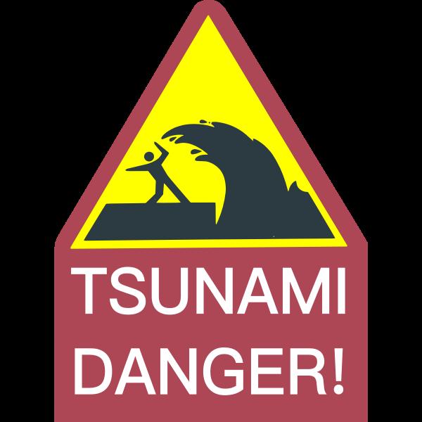 tsunami danger sign free svg