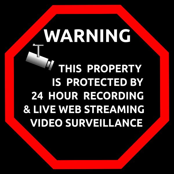 English security surveillance sticker vector image