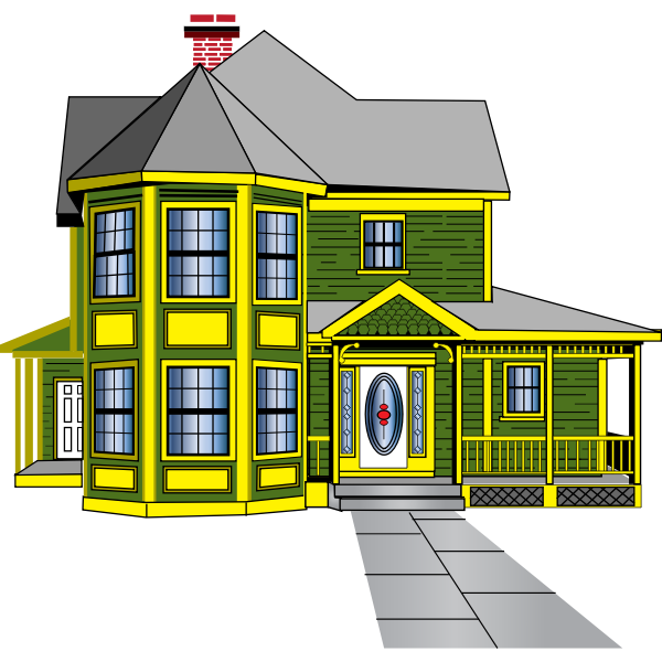 Old Victorian house vector