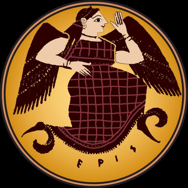 Vector clip art of goddess Eris color plate