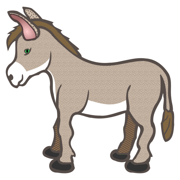 Brown spotty donkey line art vector image