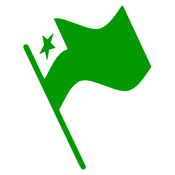 Esperanto Flag Waving