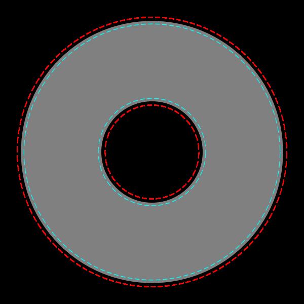 Vector CD label template