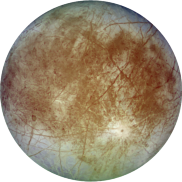 Graphics of Jupiter's satellite Europa