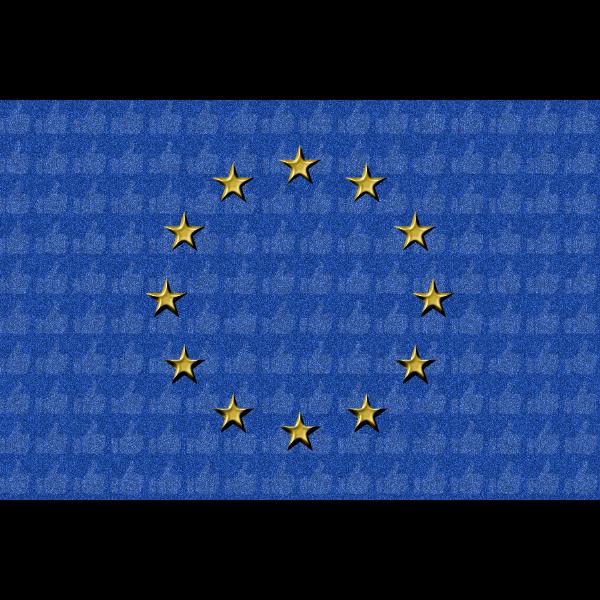 EU flag grainy texture