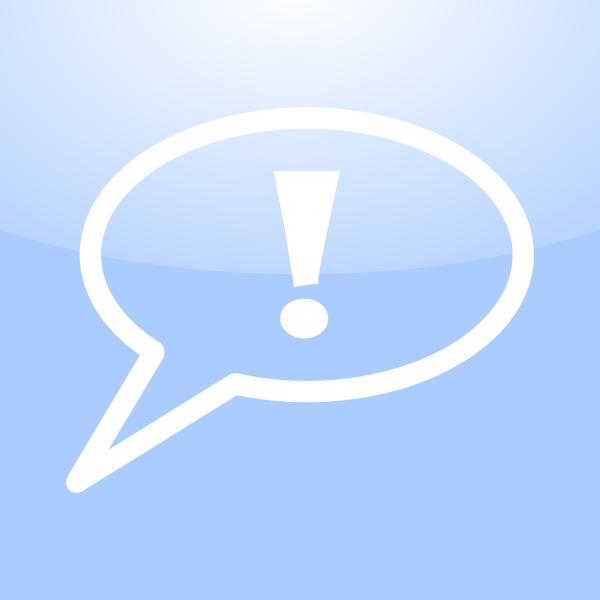 Mac warning conversation icon vector image