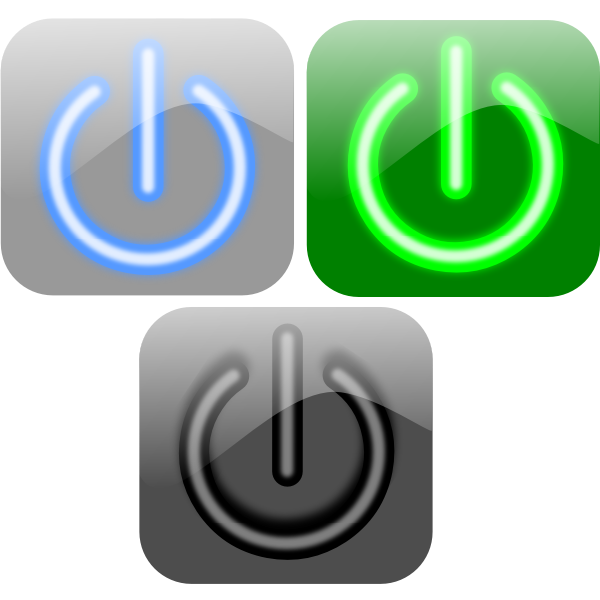 Turn off button vector image