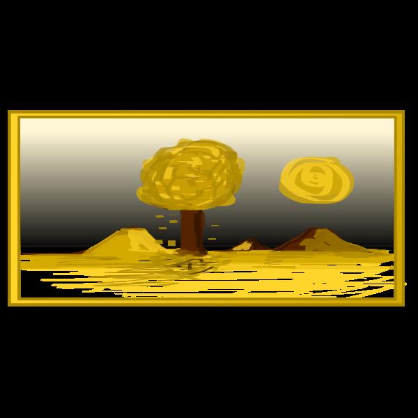 Fall landscape vector graphics