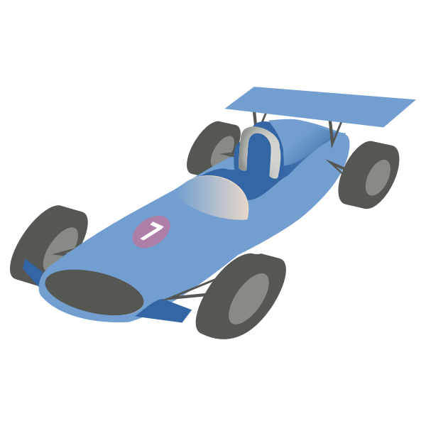 Vector image of f1 bolide