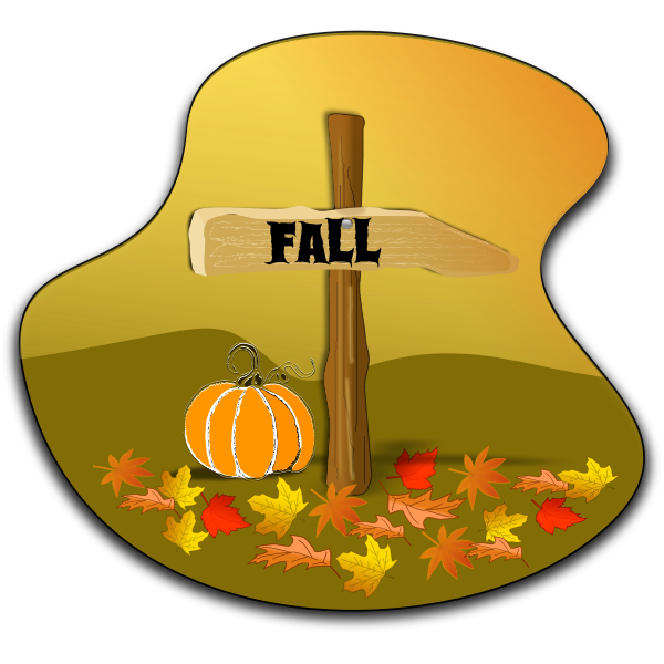 Fall landscape vector drawing