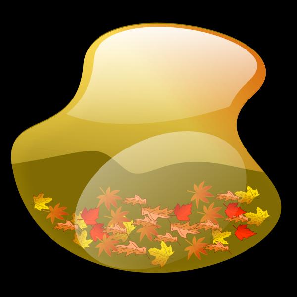 Fall landscape vector illustration