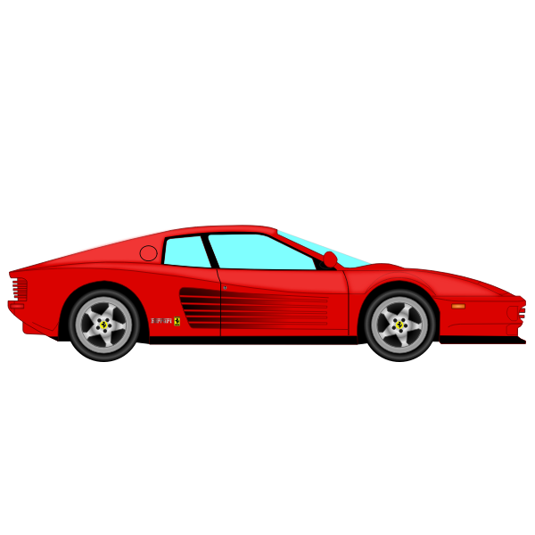 Vector drawing of Ferrari Testarossa