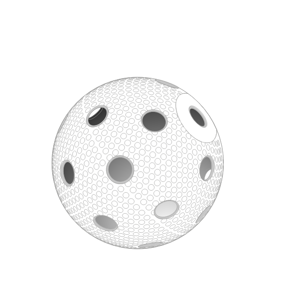 Vector image of floorball ball
