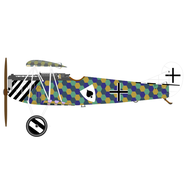 Fokker D VII aeroplane vector image