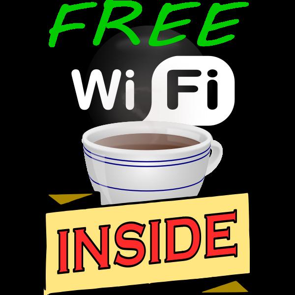 Free Wi-Fi sticker