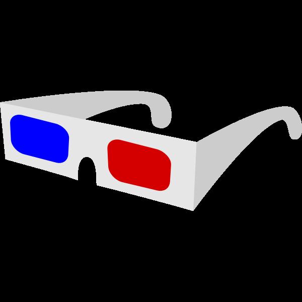 3D Glasses vector drawing