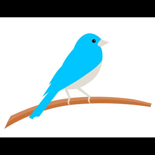 Small bird on a tree branch