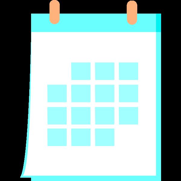 calendar aqua colour