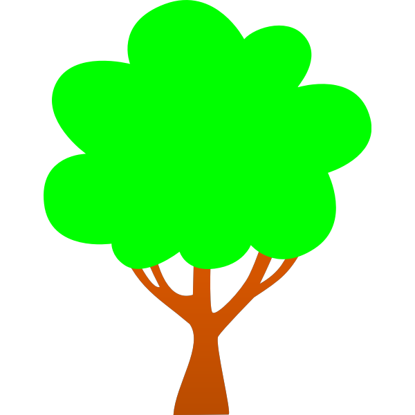 Simple tree cartoon clip art
