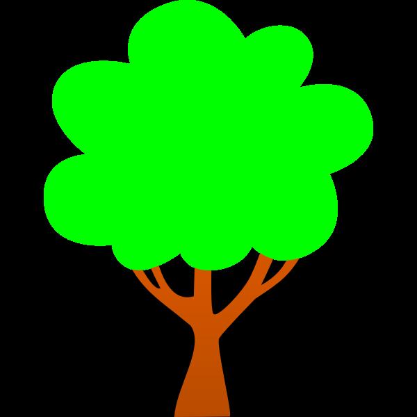 Simple tree cartoon clip art