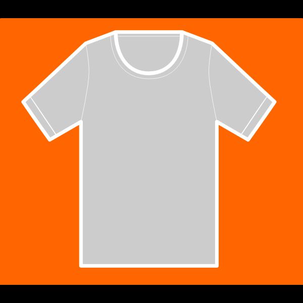 T-shirt on orange background