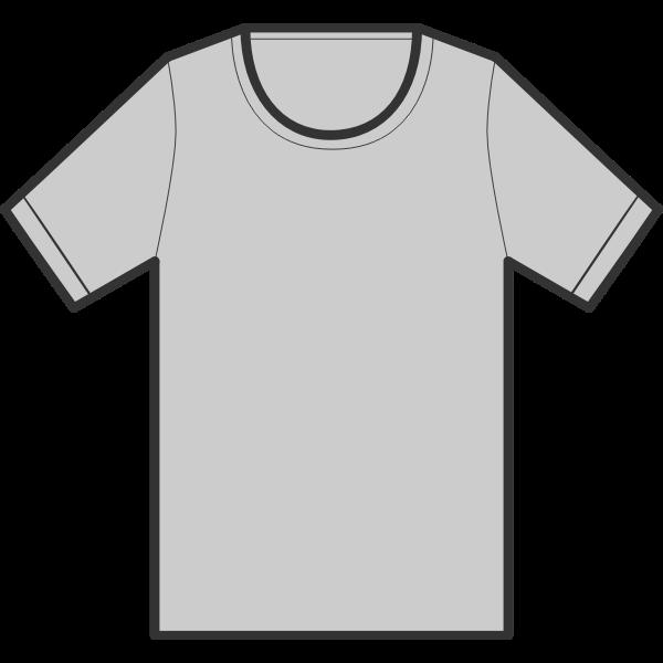 Gray T-shirt illustration