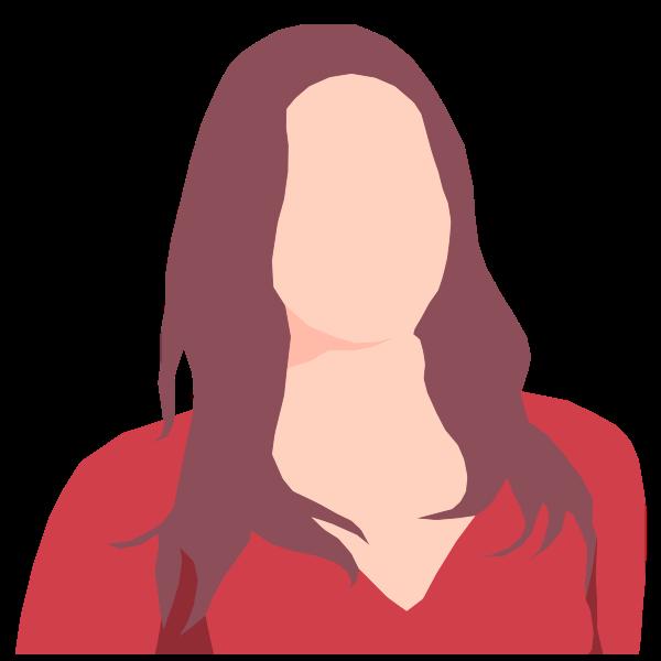 Faceless female avatar