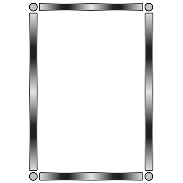 Vector drawing of gray border with gradient