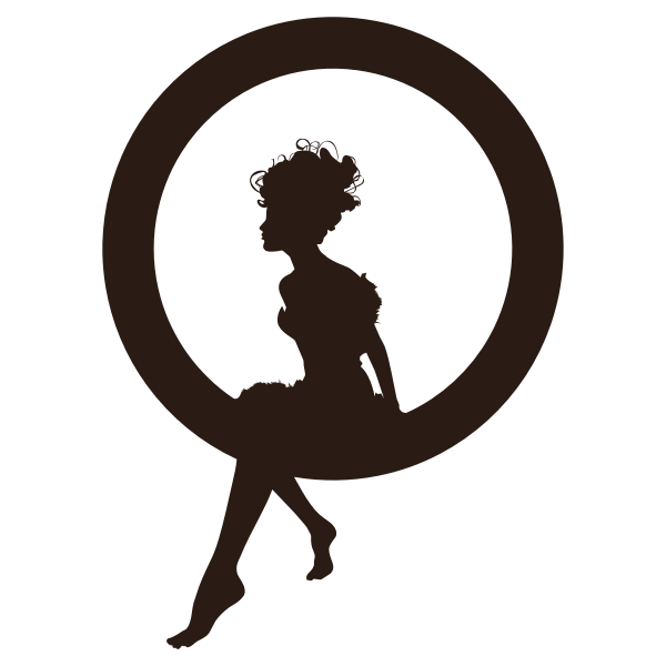Fairy Sitting In Circle Silhouette