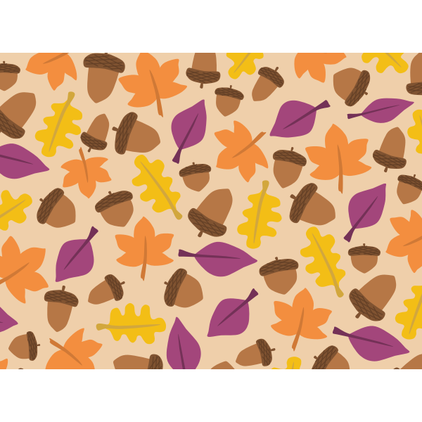 Fall leaf pattern vector image