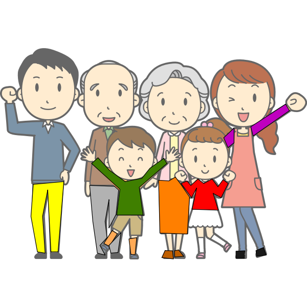 Happy family vector clip art