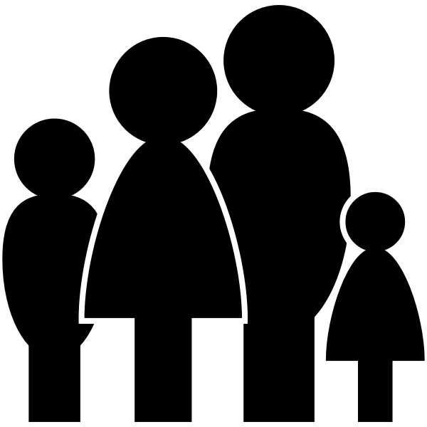 Stylized icon silhouettes