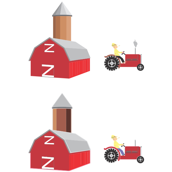 Farmer and silo
