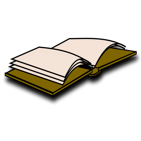 Open brownish book