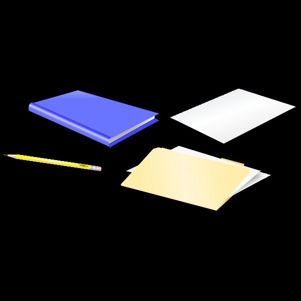 Office stationery vector illustration