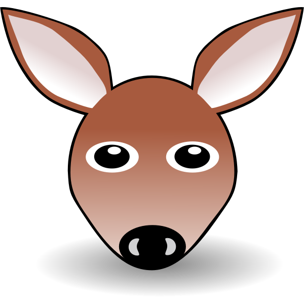 Funny fawn face vector graphics