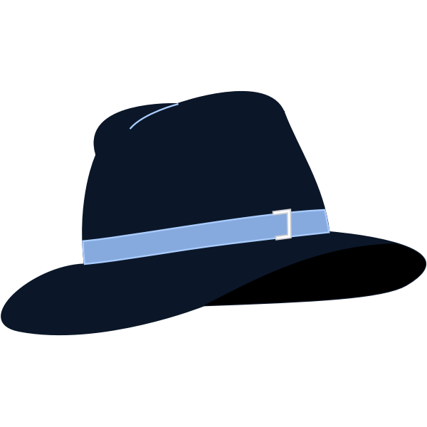 Fedora hat vector illustration