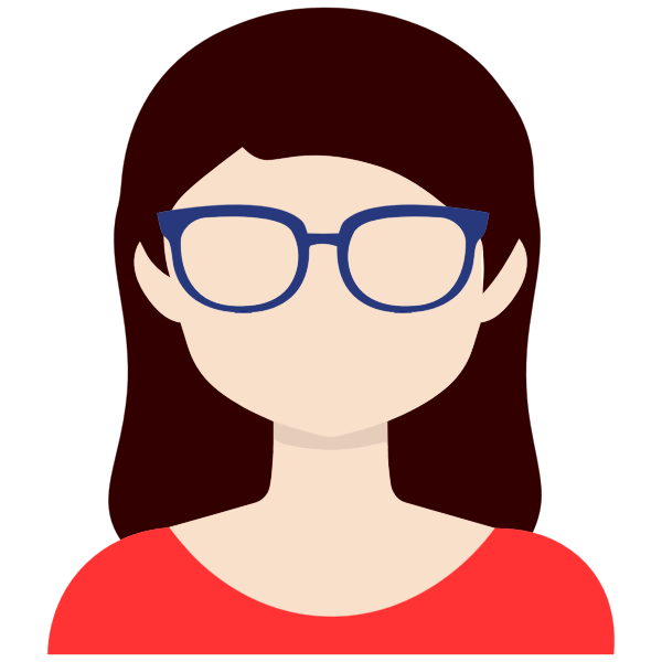 Female avatar with glasses